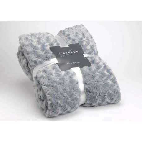 Plaid Amadeus gris bleuté 240*170