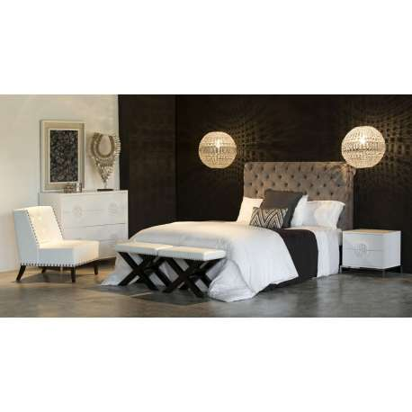 tete de lit velours capitonn e chocolat. Black Bedroom Furniture Sets. Home Design Ideas