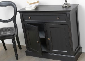 meubles noirs amadeus le grenier de juliette. Black Bedroom Furniture Sets. Home Design Ideas