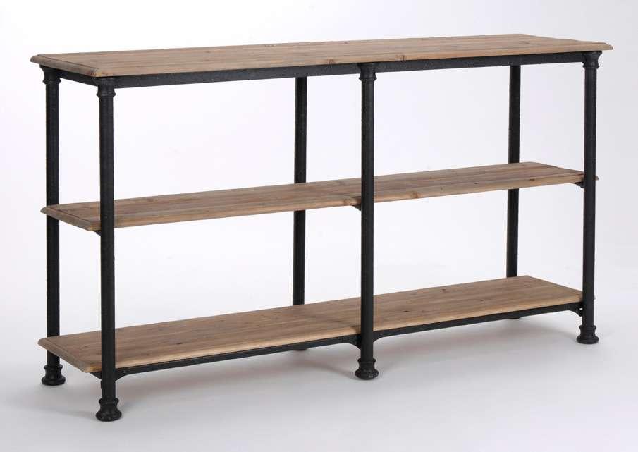 Drapier console bois et métal